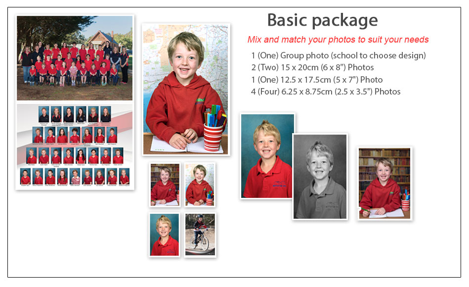 School Photography Basic Package