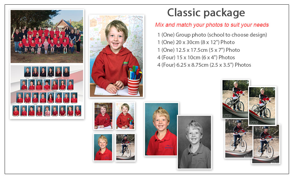 Classic School Photo Package