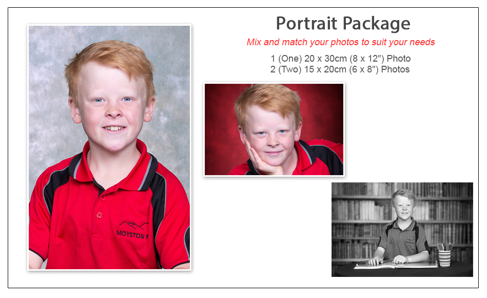 School photography Portrait Package